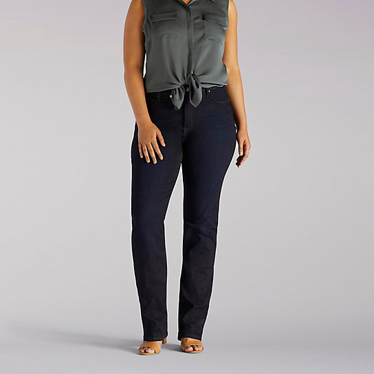 Platinum Label Classic Fit Gwen Straight Leg Jeans - Plus