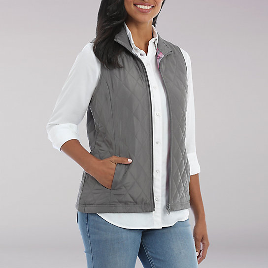 Lee Riders Sleeveless Quilted Reversible Vest
