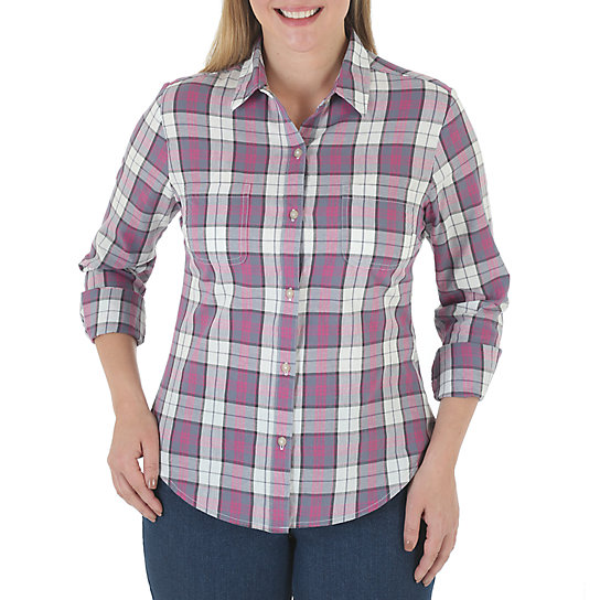 Riders® by Lee Mariah Long Sleeve Plaid Shirt - Misses